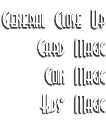 General Close Up Card Magic Coin Magic Kids' Magic